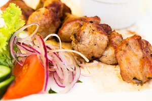 Pork bbq shashlik barbecue