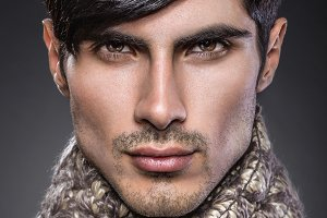 Handsome male beauty portrait