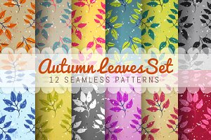 Set Of 12 Seamless Vector Patterns