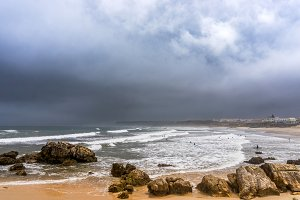 Before a storm on the Baleal beach