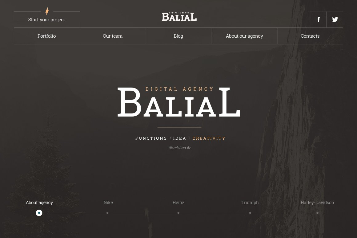 Balial PSD portfolio theme ~ Website Templates ~ Creative Market