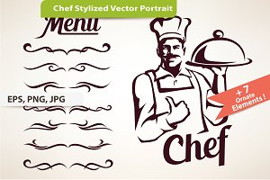 Chef Stylized Vector Symbol
