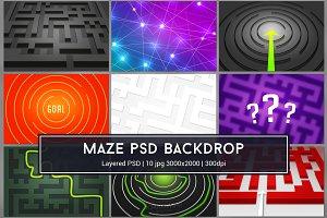 Maze PSD Backdrop