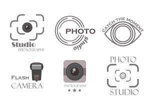 Photographer Logo Templates Set