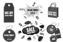 Black friday label set