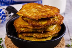 Traditional potato pancakes