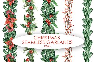 Christmas Seamless Garlands