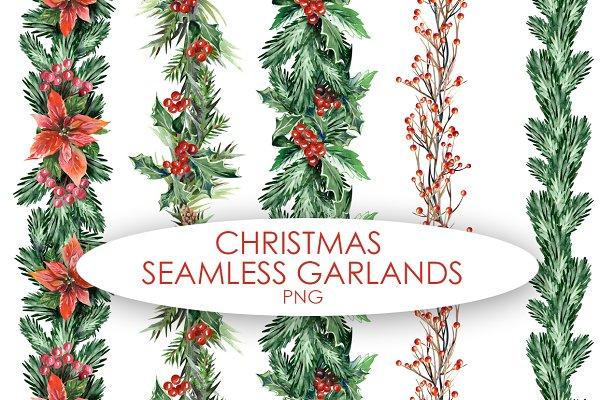 Christmas Seamless Garlands