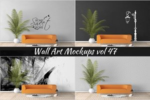 Wall Mockup - Sticker Mockup Vol 47