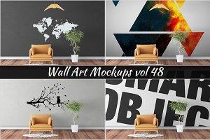 Wall Mockup - Sticker Mockup Vol 48
