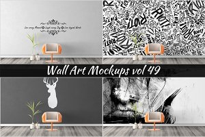 Wall Mockup - Sticker Mockup Vol 49