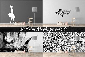 Wall Mockup - Sticker Mockup Vol 50