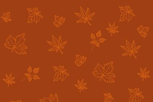 pattern with leaves, vector