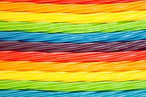 colorful twisted licorice candy