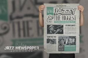 Jazz | Vintage Newspaper Poster