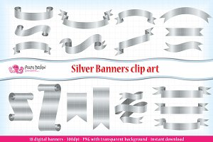 Silver Banners clipart