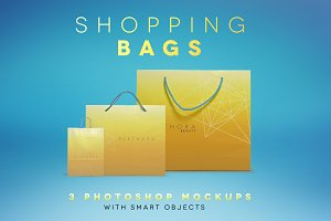 3 Shopping Bag Mockups