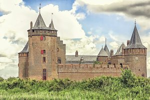 Old Dutch castle Muiderslot