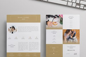 Beauty Blogger Media Kit (Gold)