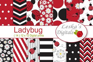 Ladybug Digital Paper Pack