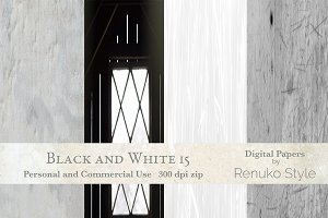 Black & White 15 Digital Backgrounds