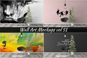 Wall Mockup - Sticker Mockup Vol 51