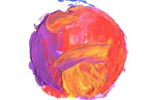acrylic and watercolor circle