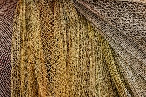 Background of fishing nets