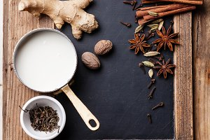 Indian masala chai Ingredients