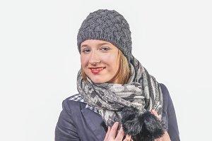 Pretty winter woman