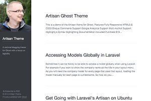 Artisan – Minimal Blogging Theme