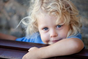 Little blonde kid
