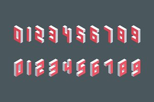 Isometric numbers collection.