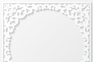 Set of paper floral frames