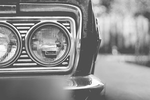 Black&White Vintage Headlights