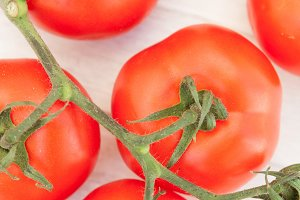 Bright picture of vine tomatoes