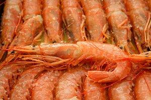Tray of shrimp