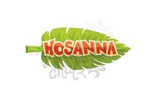Hosanna Palm Leaf