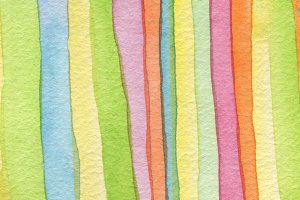 Abstract strip watercolor painting