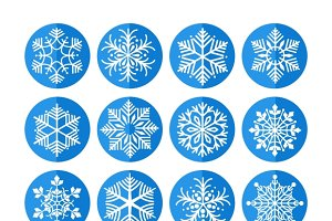 Set of snowflakes icons
