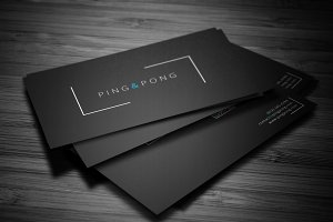 Fonts&Shapes Business Card