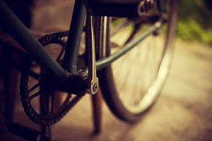 Photo of an old bicycle