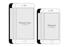 iPhone 6 & iPhone 6 Plus PSD Mockup