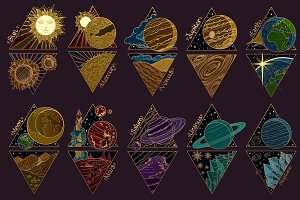 Set solar system planets
