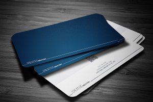 Deep Blue Business Card