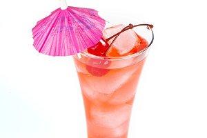 Lemonade glass with straw