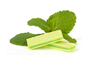 Mint chewing gum