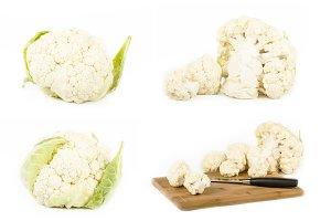 Fresh cauliflower set
