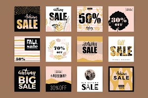 Set of 12 fall SALE templates
