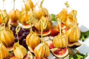 Canapes with physalis